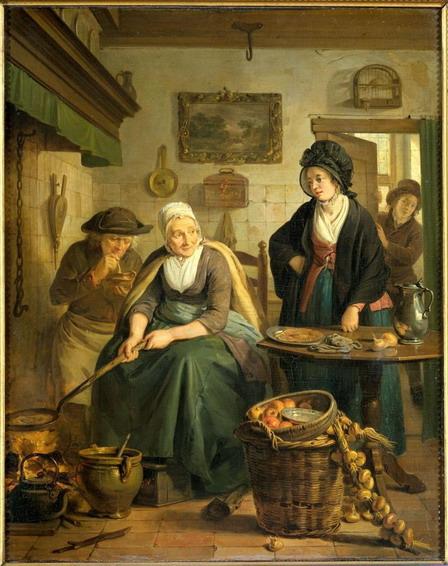 vrouw-bakt-pannenkoeken