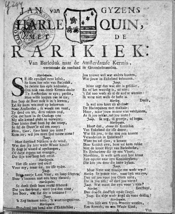 Jan van Gysens Harlequin