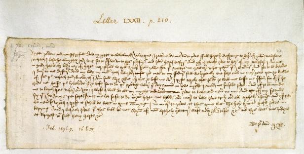 eerste vermeldin Valentijn in brief